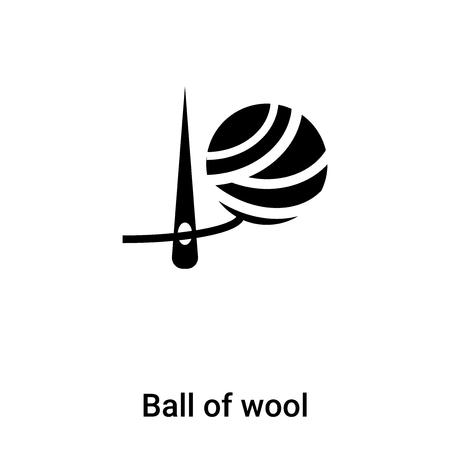 Wollknäuel-Symbol-Vektor isoliert auf weißem Hintergrund, Konzept des Wollknäuel-Zeichens auf transparentem Hintergrund, gefülltes schwarzes Symbol