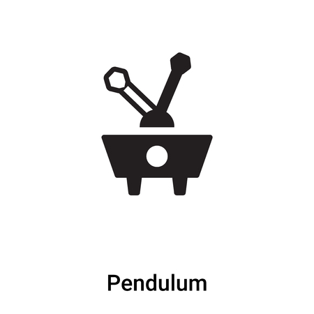 Pendulum icon vector isolated on white background, concept of Pendulum sign on transparent background, filled black symbol