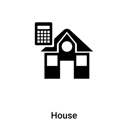 House icon vector isolated on white background, concept of House sign on transparent background, filled black symbol