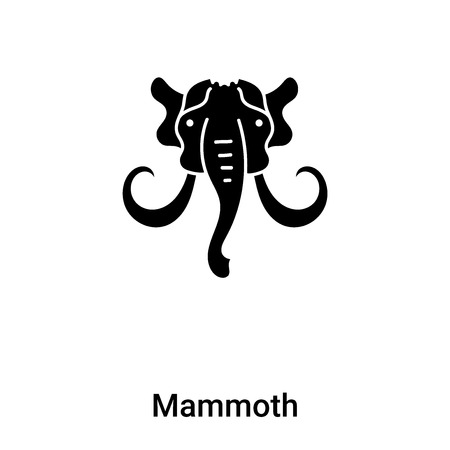 Mammoth icon vector isolated on white background,  concept of Mammoth sign on transparent background, filled black symbol