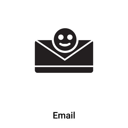 Email icon vector isolated on white background,  concept of Email sign on transparent background, filled black symbol