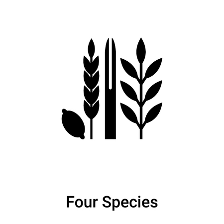 Four Species icon vector isolated on white background,  concept of Four Species sign on transparent background, filled black symbol