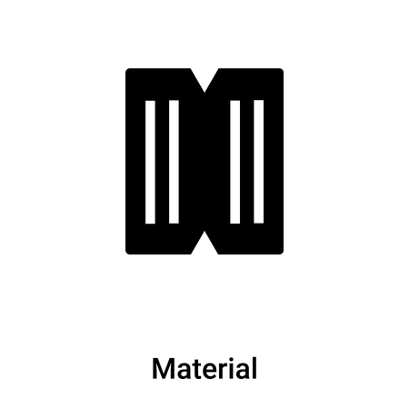 Material icon vector isolated on white background, logo concept of Material sign on transparent background, filled black symbol