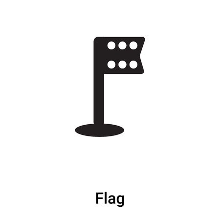 Flag icon vector isolated on white background, logo concept of Flag sign on transparent background, filled black symbol