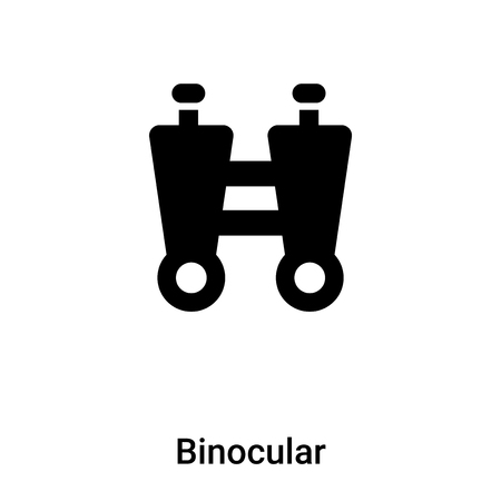 Binocular icon vector isolated on white background, logo concept of Binocular sign on transparent background, filled black symbol