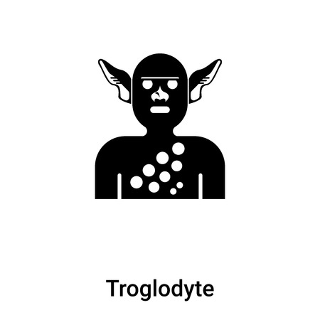 Troglodyte icon vector isolated on white background, logo concept of Troglodyte sign on transparent background, filled black symbol
