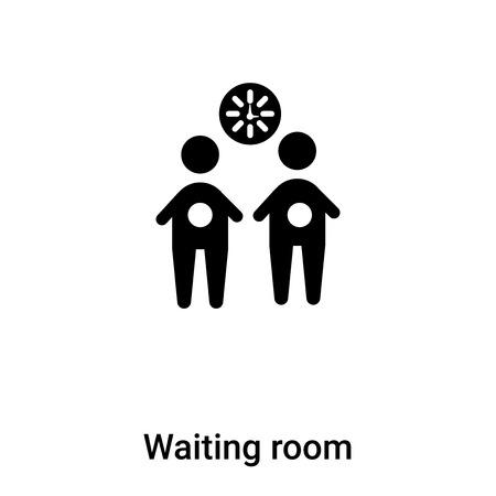 Wartezimmer-Symbol-Vektor isoliert auf weißem Hintergrund, Logo-Konzept des Wartezimmer-Zeichens auf transparentem Hintergrund, gefülltes schwarzes Symbol