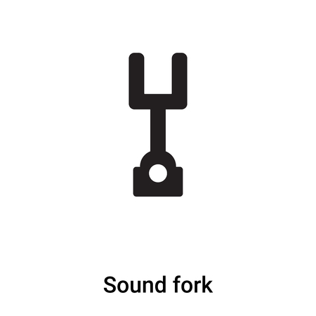Sound fork icon vector isolated on white background,  concept of Sound fork sign on transparent background, filled black symbol Illustration