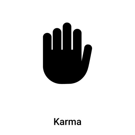 Karma icon vector isolated on white background,  concept of Karma sign on transparent background, filled black symbol