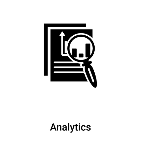 Analytics icon vector isolated on white background,  concept of Analytics sign on transparent background, filled black symbol