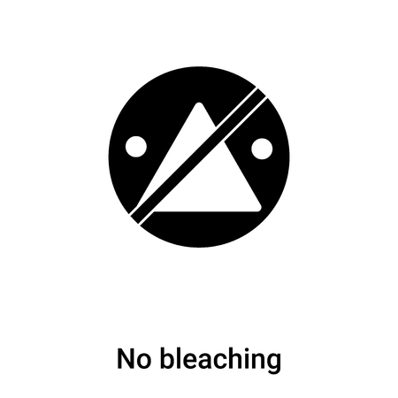 No bleaching icon vector isolated on white background,  concept of No bleaching sign on transparent background, filled black symbol Illustration