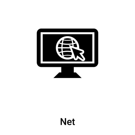 Net icon vector isolated on white background,  concept of Net sign on transparent background, filled black symbol