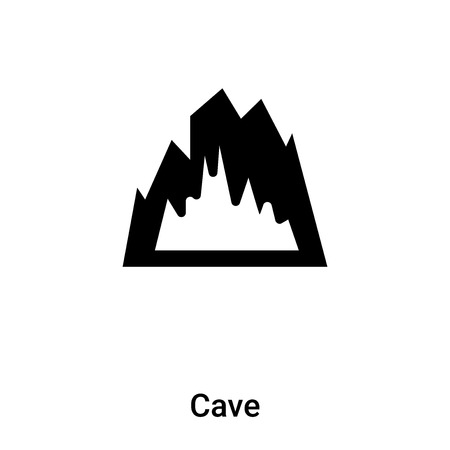 Cave icon vector isolated on white background, concept of Cave sign on transparent background, filled black symbol