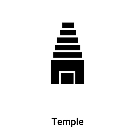 Temple icon vector isolated on white background, logo concept of Temple sign on transparent background, filled black symbol Illustration