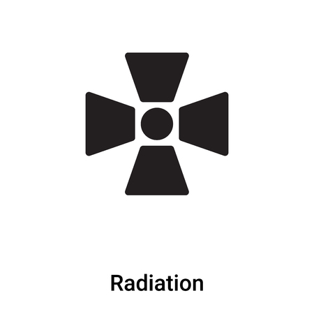 Radiation icon vector isolated on white background, concept of Radiation sign on transparent background, filled black symbol Vettoriali