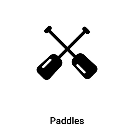Paddles icon vector isolated on white background, logo concept of Paddles sign on transparent background, filled black symbol