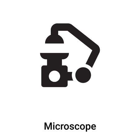 Microscope icon vector isolated on white background, logo concept of Microscope sign on transparent background, filled black symbol