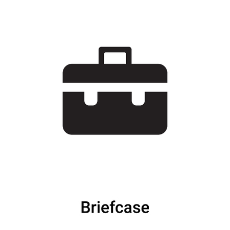 Briefcase icon vector isolated on white background, logo concept of Briefcase sign on transparent background, filled black symbol