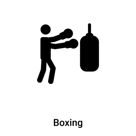Boxing icon vector isolated on white background, concept of Boxing sign on transparent background, filled black symbol