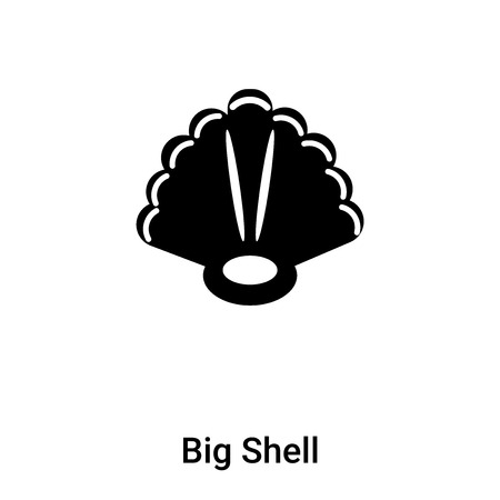 Big Shell icon vector isolated on white background, logo concept of Big Shell sign on transparent background, filled black symbol