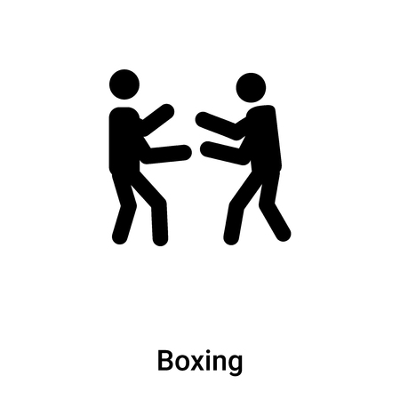 Boxing icon vector isolated on white background,  concept of Boxing sign on transparent background, filled black symbol Illustration