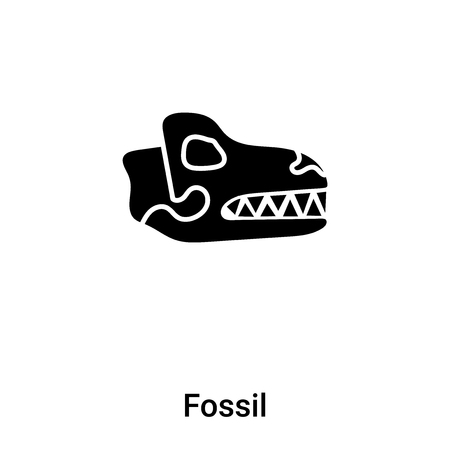 Fossil icon vector isolated on white background, concept of Fossil sign on transparent background, filled black symbol Çizim