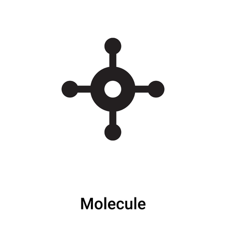 Molecule icon vector isolated on white background, concept of Molecule sign on transparent background, filled black symbol