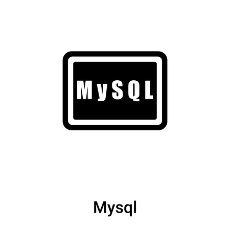 Mysql icon isolated on white background,  concept of Mysql sign on transparent background, filled black symbol