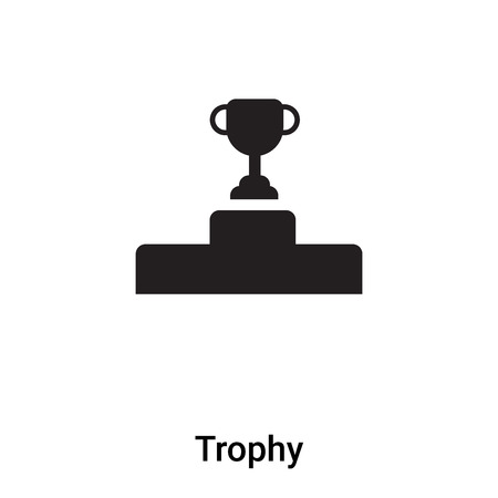 Trophy icon vector isolated on white background,  concept of Trophy sign on transparent background, filled black symbol