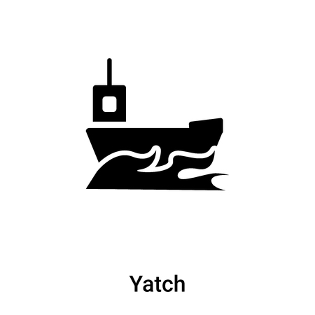 Yatch icon vector isolated on white background,  concept of Yatch sign on transparent background, filled black symbol