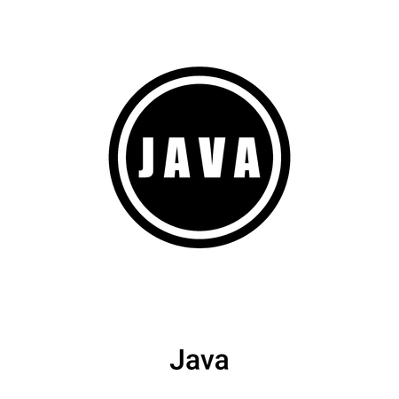 Java icon vector isolated on white background,  concept of sign on transparent background, filled black symbol