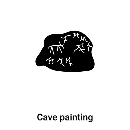 Cave painting icon vector isolated on white background,  concept of Cave painting sign on transparent background, filled black symbol Illustration