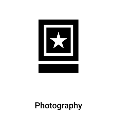Photography icon vector isolated on white background, concept of Photography sign on transparent background, filled black symbol
