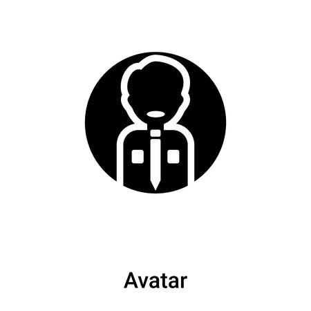 Vecteur d'icône Avatar isolé sur fond blanc, notion de logo d'Avatar signe sur fond transparent, rempli de symbole en noir