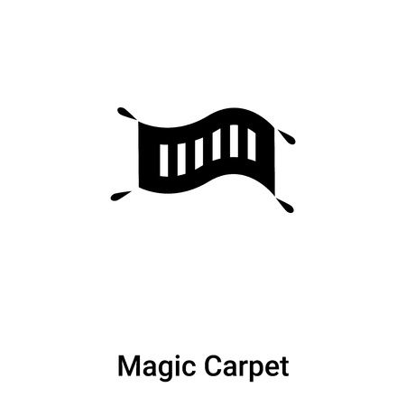 Magic Carpet icon vector isolated on white background, logo concept of Magic Carpet sign on transparent background, filled black symbol