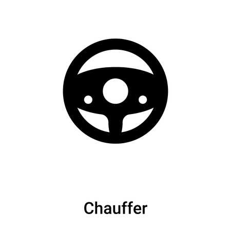Chauffer icon vector isolated on white background,  concept of Chauffer sign on transparent background, filled black symbol