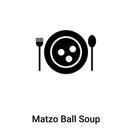 Matzo Ball Soup icon vector isolated on white background, concept of Matzo Ball Soup sign on transparent background, filled black symbol Stock Vector - 120462339