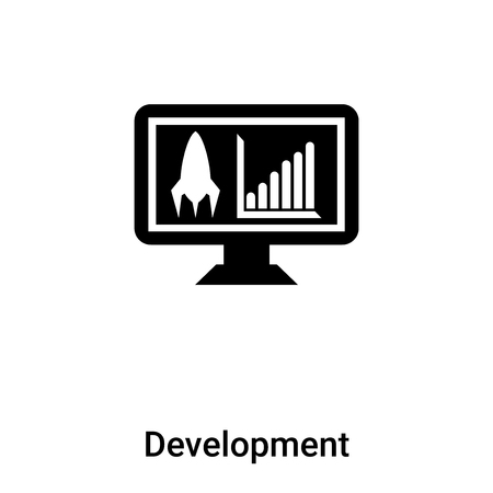 Development icon vector isolated on white background, concept of Development sign on transparent background, filled black symbol