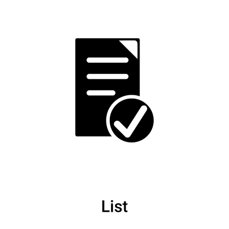 List icon  isolated on white background, concept of List  sign on transparent background, filled black symbol