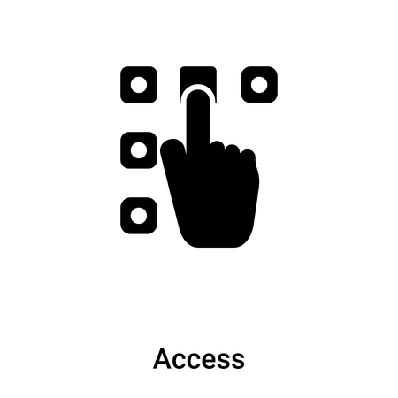 Access icon isolated on white background,  concept of Access sign on transparent background, filled black symbol Illustration