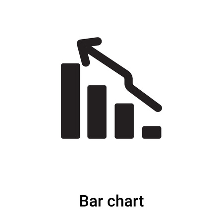 Bar chart icon isolated on white background,  concept of Bar chart sign on transparent background, filled black symbol