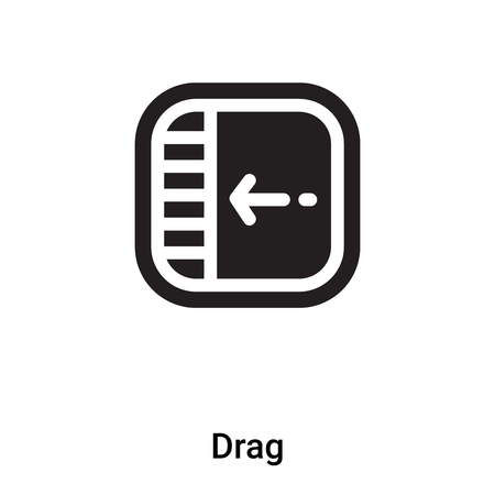 Drag icon isolated on white background,  concept of Drag sign on transparent background, filled black symbol