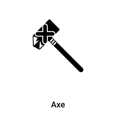 Axe icon vector isolated on white background, concept of Axe sign on transparent background, filled black symbol