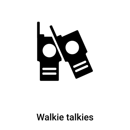 Walkie talkies icon vector isolated on white background, concept of Walkie talkies sign on transparent background, filled black symbol