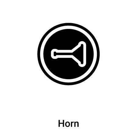 Horn icon vector isolated on white background,  concept of Horn sign on transparent background, filled black symbol