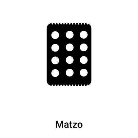 Matzo icon vector isolated on white background, logo concept of Matzo sign on transparent background, filled black symbol Stock Vector - 120513740
