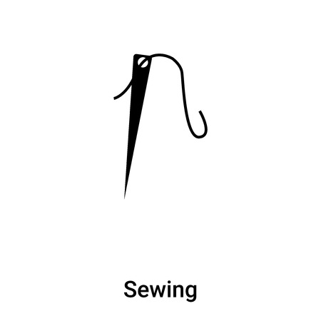 Sewing icon vector isolated on white background, logo concept of Sewing sign on transparent background, filled black symbol