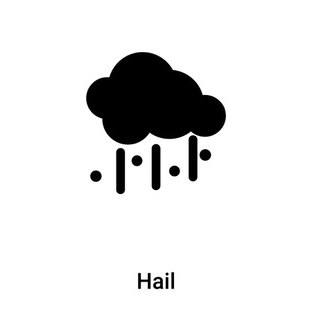 Hail icon vector isolated on white background, logo concept of Hail sign on transparent background, filled black symbol 矢量图像