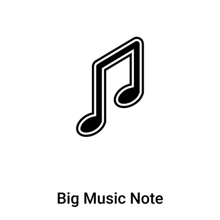 Big Music Note icon vector isolated on white background, logo concept of Big Music Note sign on transparent background, filled black symbol