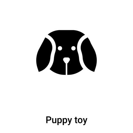 Puppy toy icon vector isolated on white background, concept of Puppy toy sign on transparent background, filled black symbol